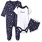 Hudson Baby Baby Multi Piece Clothing Set, Dream 3 Piece, 3-6 Months