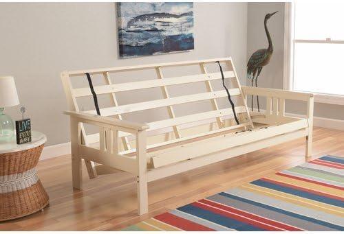 Amazon.com: Basic Wooden Futon Frame, Converts to Standard Full Size ...