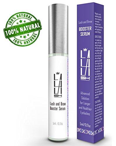 Natural Eyelash Growth Serum - Eyebrow Growth Serum - Made in USA - Lash Booster for Longer, Thicker Natural Eyelashes and Fuller Eyebrows - Enhancing Lash Growth Formula