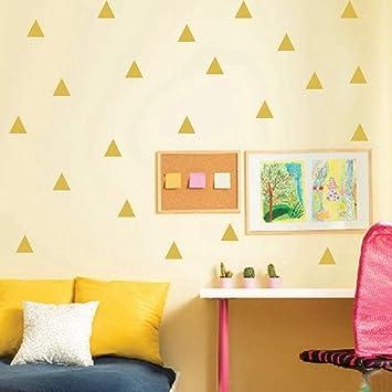 WHFDRHQT Pegatina Pared 48Pcs Triángulos Etiqueta de la pared Kids ...