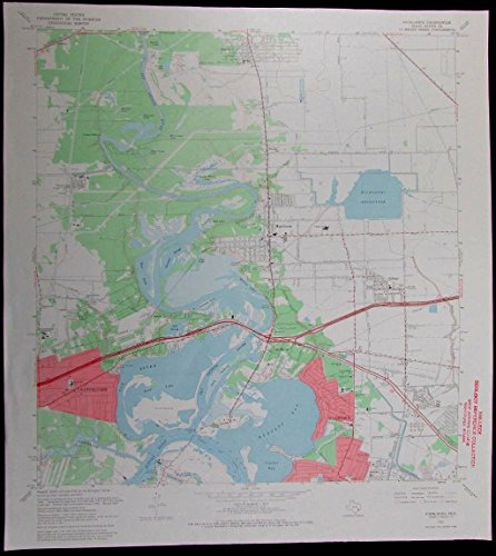 Highlands Channelview Baytown McNair Texas Barrett vintage 1969 USGS Topo chart