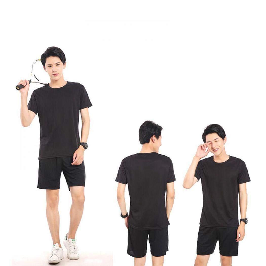 Susens Men Casual O-Neck Short Sleeve Waterproof Antifouling Breathable Solid T-Shirt