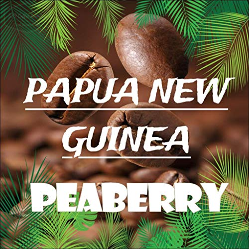 Papua New Guinea Peaberry Jikawa/Western Highlands Fresh 100% Arabica Coffee Beans (Unroasted beans, 5 pounds)