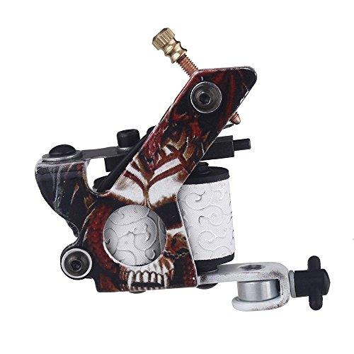Docooler New Pro Tattoo Machine Gun Shader Liner 10 Wrap Coils Free Spring Multicolour Senior Cast Iron
