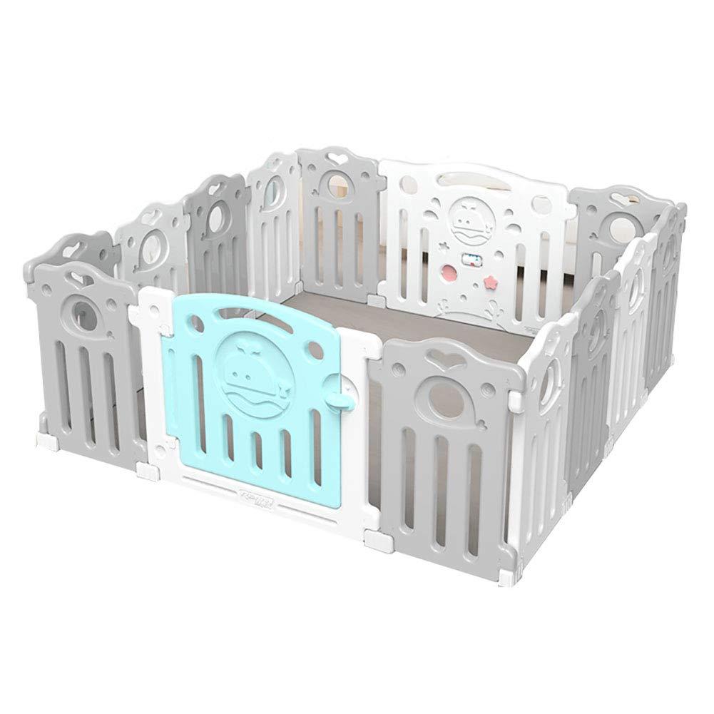 赤ちゃんの囲い 高密度ポリエチレンポータブル子供の遊び場ベビークローラープロテクター洗える屋内遊び場(サイズ:150cm×150cm)   B07JLC97DC