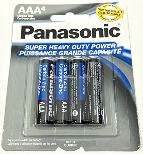4pc Panasonic AAA Batteries Super Heavy Duty Power Carbon Zinc Triple A Battery 1.5v ()