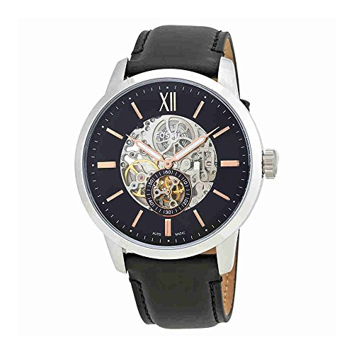Fossil Townsman Skeleton Dial Automatic Mens Leather Watch (Automatic Skeleton Dial)