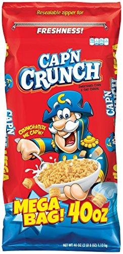 Cap'n Crunch Breakfast Cereal, Mega Size 40 oz. Bag