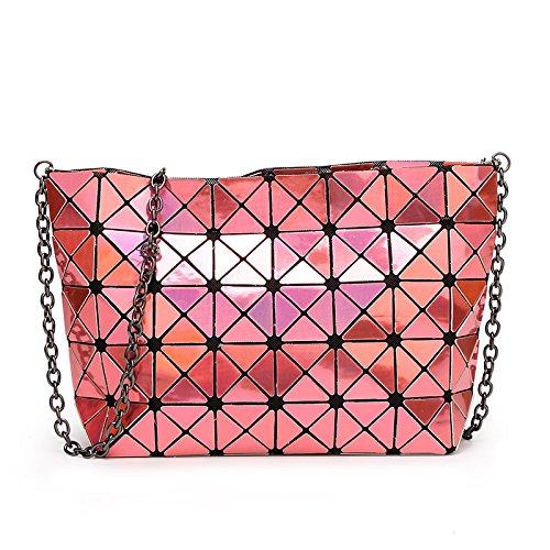 Package Geometric Bag Handbag MYLL Treasureblue Shoulder Folding Ladies Orange Women's Chain CISBaqwXB