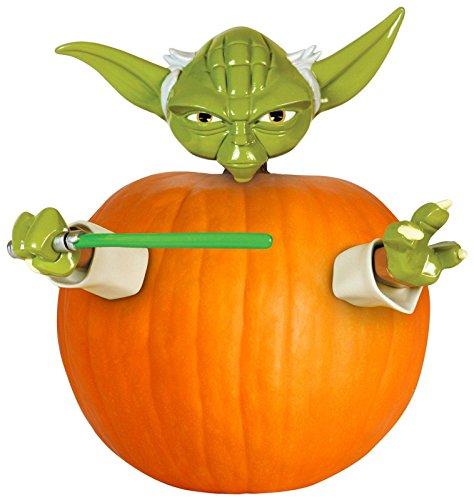 Yoda Pumpkin (Star Wars Yoda Pumpkin Push in Halloween Decorating)