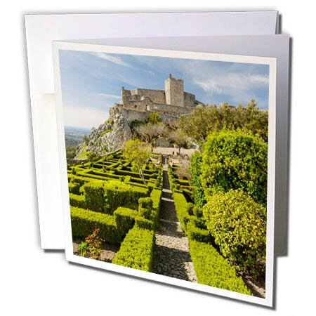3dRose Danita Delimont - Castles - The castle dating back to Moorish times. Marvao. Alentejo. Portugal - 6 Greeting Cards with envelopes (Medieval Times Invitations)