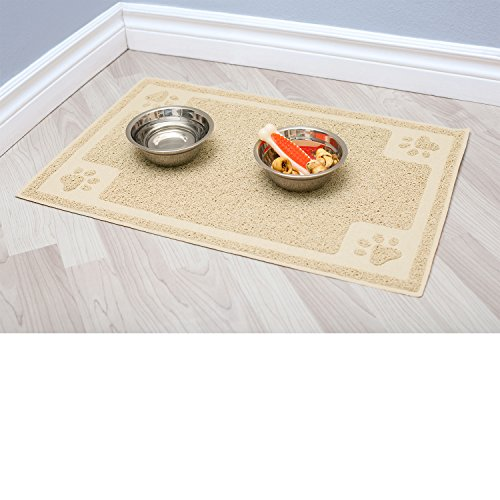 cavalier pets dog bowl mat for cat and dog bowls silicone nonslip absorbent waterproof dog food mat easy to clean unique paw design u2013 sweety