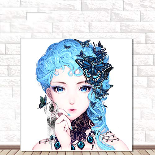 Alimao 5D Refinement Embroidery 2019 New Paintings Rhinestone Pasted DIY Diamond Painting Cross Stitch ()