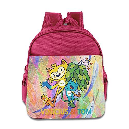 Children 2016 Rio Olympics Mascot Vinicius Tom School Bag (2 Color:Pink Blue)
