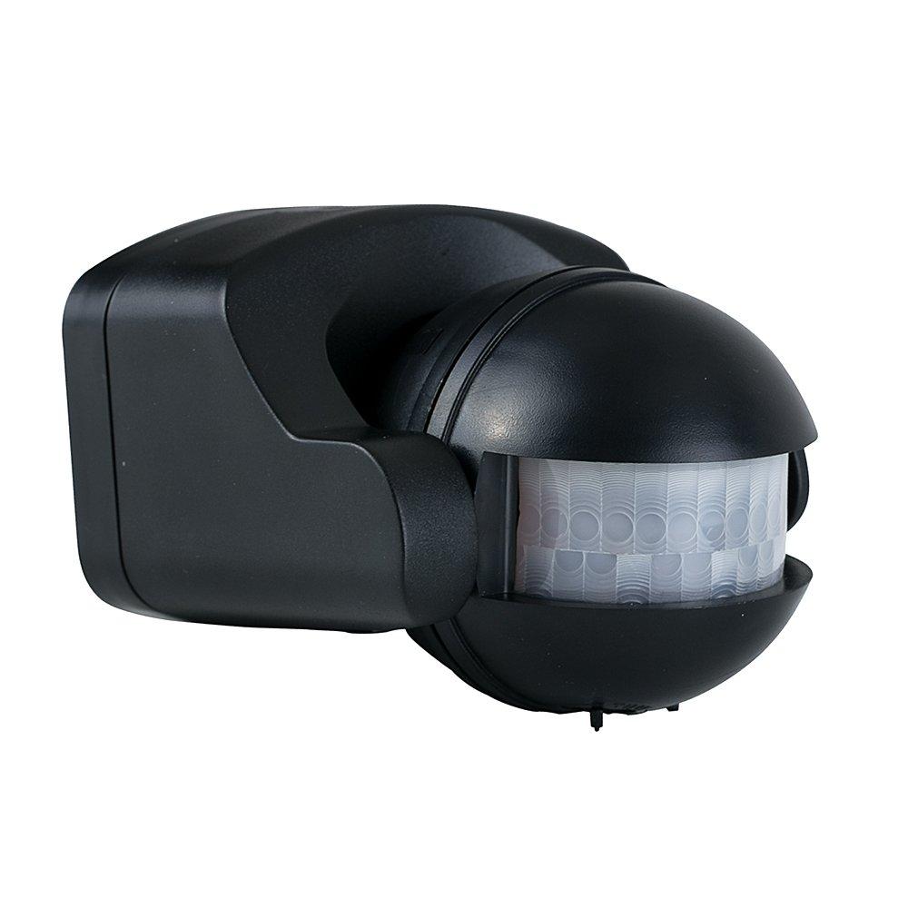 minisun ip44 rated outdoor pir security infrared motion sensor black amazoncouk garden u0026 outdoors