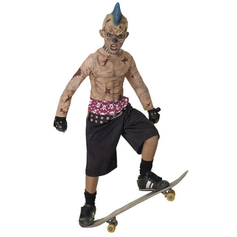 Amazon.com: Disfraz de zombie rockero punk para niño ...
