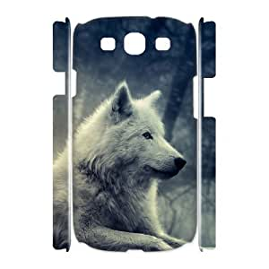 Diy Wolf Howling Phone Case for samsung galaxy s3 3D Shell Phone JFLIFE(TM) [Pattern-2]