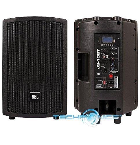 JBL Professional JS10BT 10 in. Pro DJ Speaker with Bluetooth LED Panel USB & SD Input