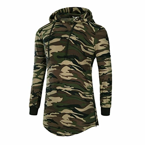 Boomboom Men's Winter Clothes, Men's Hipster Camouflage Hip Hop Pullover Hoodied Shirts (XXL, - Cheap Hipster