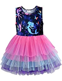 Girls 2 in 1 Jumper Dress Star Floral Boho Tunic Sweat Top 3 to 14 Years