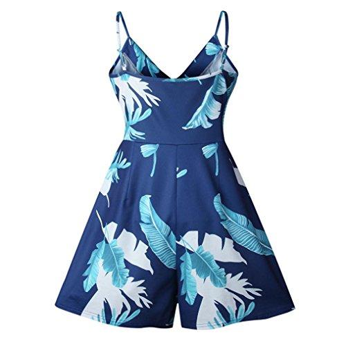 Rompers Blue Summer S SMTSMT Holiday Women Jumpsuit Beach Sling Women M Blouse 3XL Mini XS Playsuit loose printing XL Ladies Strapless XXL L qBaz5Pxw