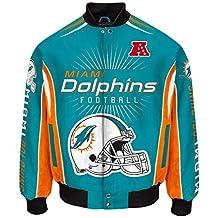 "Miami Dolphins Men's NFL G-III ""Burst"" Premium Twill Jacket"