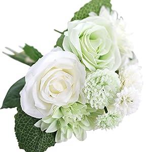 HBloom Artificial Flowers Bouquet Fake Flowers 56