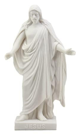 Ebros Gift Thorvaldsen Christus Consolator Statue 8 H Copenhagen Museum Reproduction Of Jesus Christ With Open Arms Figurine