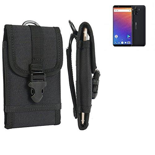 bolsa del cinturón / funda para Ulefone Power 3, negro   caja del teléfono cubierta protectora bolso - K-S-Trade (TM)