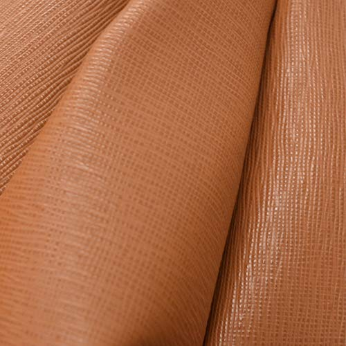 The Leather Guy - Fashion Leather Cow Hide 7.1 SqFt Chewy Caramel 3 1/2-4 oz Saffiano Embossed - ()