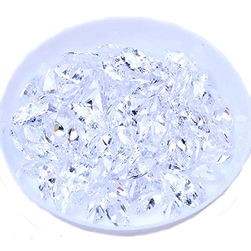 100pcs/pack 2x4mm-6x12mm and Mix Sizes Pointed Back Brilliant Horse eye Cubic Zirconia Loose CZ Stone Beads Jewelry Making Gems (2x4mm -