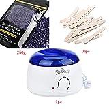 Creazy Hair Removal Bean Wiping Sticks Hot Wax Warmer Heater Pot Depilatory Set (D)