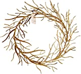 Gold Branches Wreath Photo Holder | Iron Wall Mounted Card