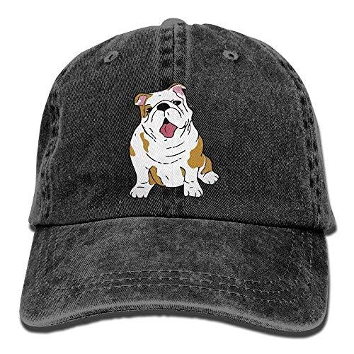 - Daqinghjxg Mens/Womens English Bulldog Denim Jeanet Baseball Cap Adjustable Hat