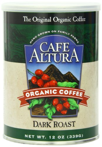 Cafe Altura Ground Organic Coffee, Dark Roast, 12 Ounce (Pack of 3)
