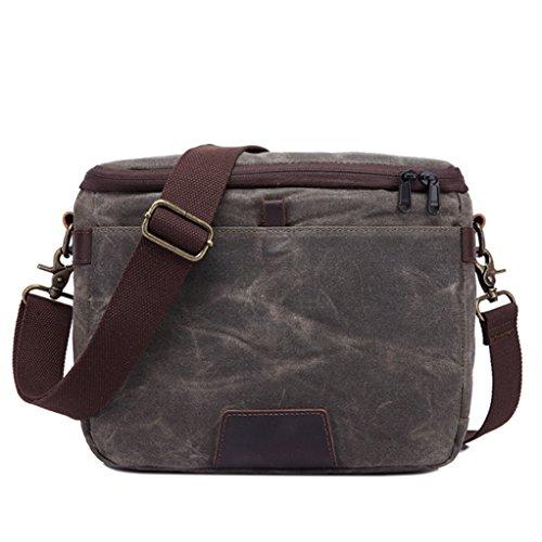 multi-funzione di borsa da uomo Sucastle borsa a tracolla del messaggero borsa di tela Sucastle Colore: dimensioni armygreen: 30x21x12cm