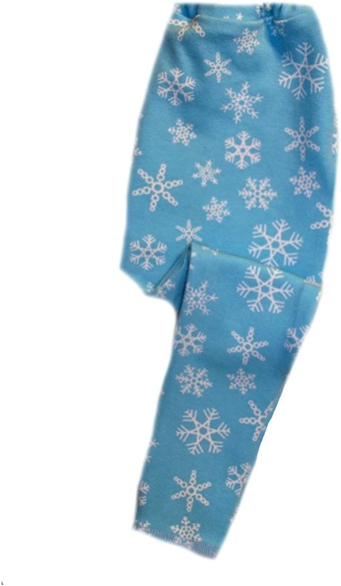 6 Preemie Baby Girls/' Blue Snowflake Winter Knit Tights Newborn Toddler Sizes