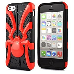 WEV 2 in 1 Spider Robot Style PC and TPU Composite Case for iPhone 5C(Assorted Colors) , Blue