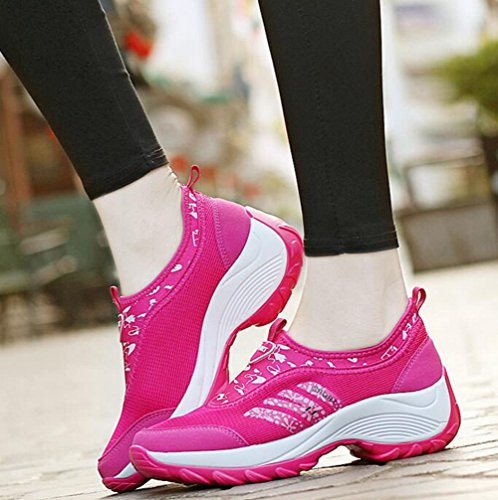 Course On De Chaussures Plate Slip Femmes Maille Gfone forme Pied Sportive Dcontractes Pink1 Baskets Respirant CfqnwFOv