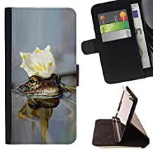For Samsung Galaxy Note 4 IV,S-type cvetok korona voda - Drawing PU Leather Wallet Style Pouch Protective Skin Case