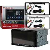 Pioneer Double DIN 2DIN AVH-600EX 7 Touchscreen Car stereo MP3 CD DVD player AppRadio Bluetooth USB with DCO Full License plate Night vision waterproof back-up camera (Optional Color)