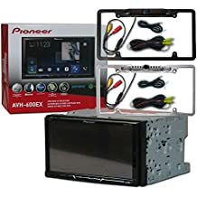 """Pioneer Double DIN 2DIN AVH-600EX 7"""" Touchscreen Car Stereo MP3 CD DVD Player AppRadio Bluetooth USB with DCO Full License Plate Night Vision Waterproof Back-up Camera (Optional Color)"""
