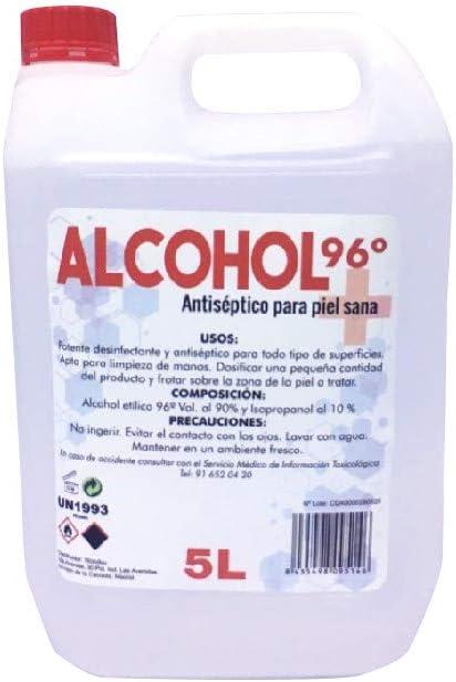 Grupo K-2 Wonduu Alcohol 96º Garrafa De 5 litros