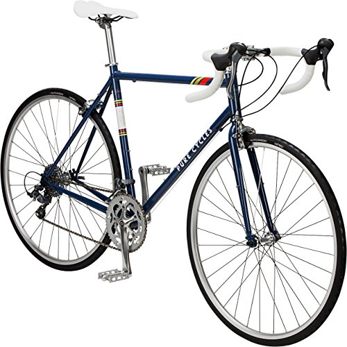 - Pure Cycles Classic 16-Speed Road Bike, 60cm/XX-Large, Bonette Blue