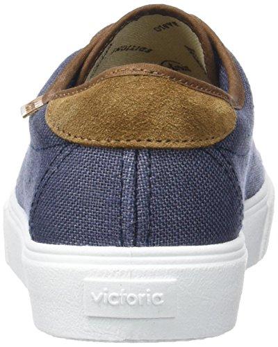 Taupe Blau Herren Flach Linge Brun Victoria Basket marine Detalle xwq6AB0U7f