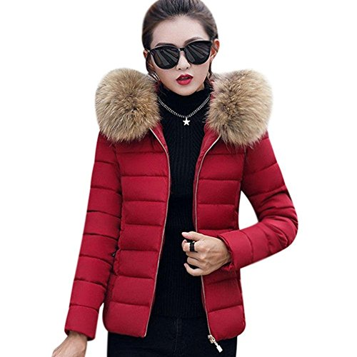 Donna Hooded Jacket Rosso Babyney Vino Cotton Elegante Fashion Warm Women Coat Large Parka Winter Costume 6ZHYq48yZ