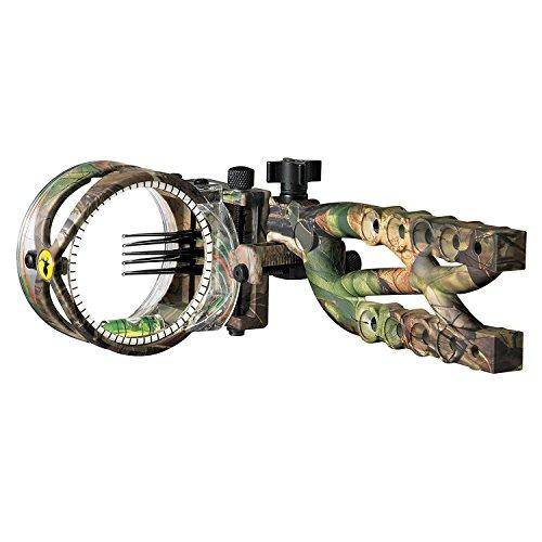 Trophy Ridge Cypher 5 Pin .019 Micro Adjust Bow Sight, (Pin Sight Camo)