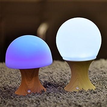 Nachtlicht Kinder, bunte Nachtlampe Silikonpilz Nachtlicht  Schlafzimmer-Modus Lampe wiederaufladbare Farbwechselleuchte für  Kinderzimmer ...