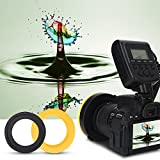 Ring Flash Light LED Ring Flash Bundle Portable Battery Operated Fill Light with LCD Display Power Control Adapter Rings and Flash Diffusers for Nikon