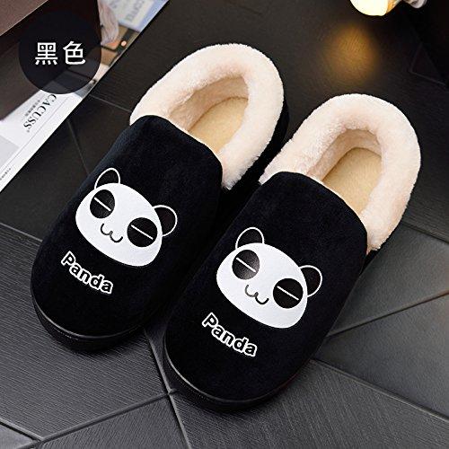 Fankou un paio di inverno home il cotone pantofole indoor cartoon grazioso  pavimento in legno pantofole